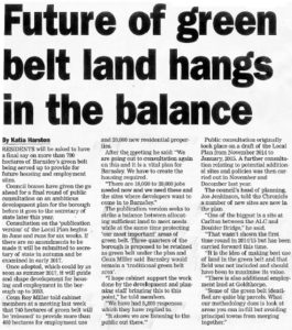 Future Of Green Belt Land Hangs In The Balance